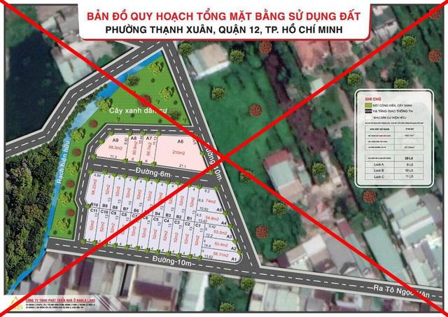 Tại TP.HCM, thời gian qua, chính quyền các quận như Thủ Đức, Tân Phú, Quận 12, Quận 7... liên tiếp cảnh báo về tình trạng phân lô đất nền trái phép, chuyển nhượng nhà đất thông qua lập vi bằng, rao bán dự án không có thực...